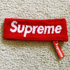 Other - Supreme New Era Big Logo headband. (RED)